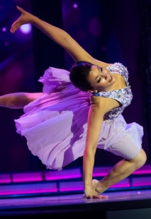 Sarah Tubbs's lyrical dance wowed the audience.