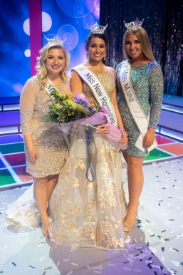 Miss Vermont Julia Crane, Miss New Hampshire Sarah Tubbs and Miss Maine Olivia Mayo.