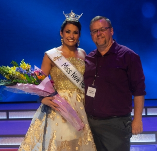 The new Miss New Hampshire with her favorite pageant reporter.