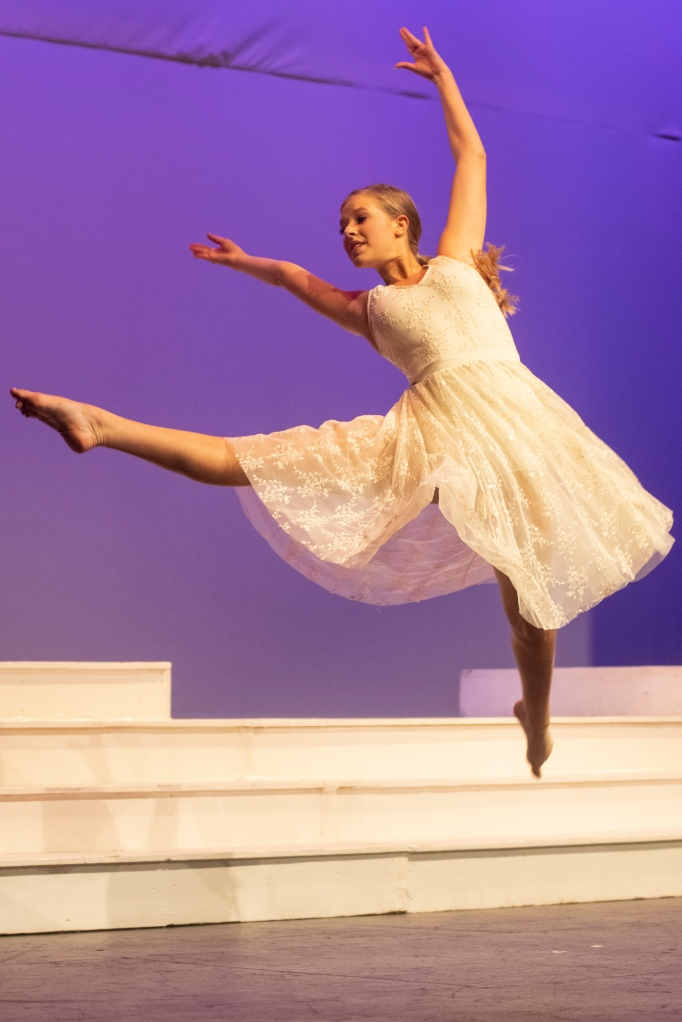 Accomplished dancer Macy Grant showed off her moves in her farewell talent performance.