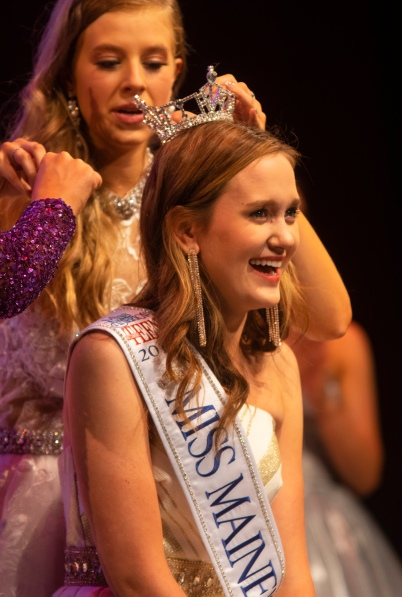 Jane Lippe, a 16-year-old Greeley High School junior was crowned Miss Maine's Outstanding Teen.