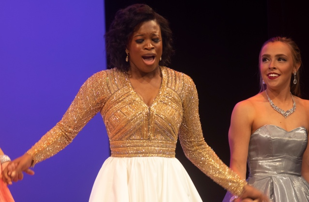 Carolyn Brady learns that she will represent Maine at the Miss America competition.